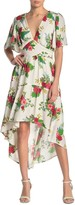 Flying Tomato Woven Printed High/Low Dress