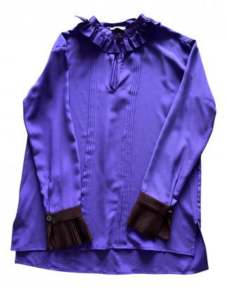 Fendi Purple Tweed Tops