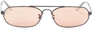 Balenciaga 61MM Oval Narrow Sunglasses