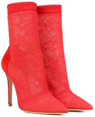 Gianvito Rossi Brinn lace ankle boots
