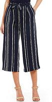 Soulmates Vertical-Stripe Tie Front Culottes