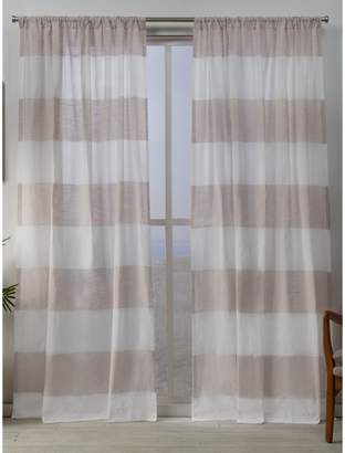 Home Outfitters Darma Sheer Rod Pocket Curtain Panels