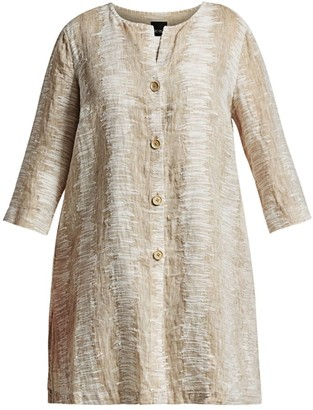 Nic+Zoe, Plus Size Sand Ripple Linen & Cotton Jacket