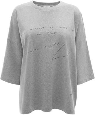 J.W.Anderson Oscar Wilde quote print T-shirt