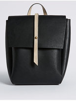 M&S Collection Faux Leather Tab Stud Rucksack Bag