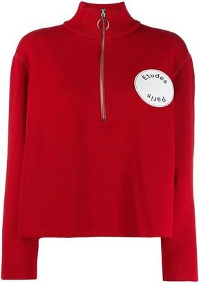 Études Louise half-zip sweater