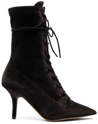 Yeezy Season 5 Velvet Lace Up Boots
