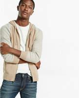 Express plaited front zip hoodie