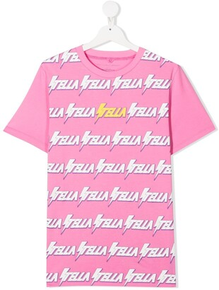 Stella McCartney Kids TEEN Stella logo print T-shirt