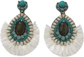 Ranjana Khan Turqoise And Ivory Earrings
