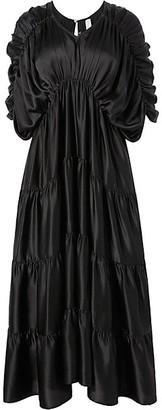 Merlette New York Tiered Empire Waist Midi Dress