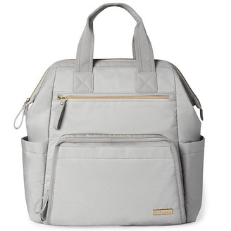 Skip Hop Mainframe Wide Open Diaper Bag Backpack, Cement