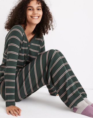 Madewell Striped Waffle Knit Pajama Sweatpants
