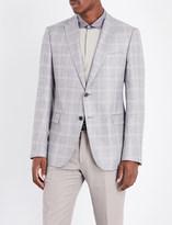 Armani Collezioni Check-print tailored-fit woven jacket