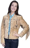 Scully Women's Fringe And Beaded Boar Suede Leather Jacket