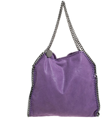 Stella McCartney Purple Faux Leather Small Falabella Tote