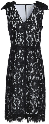 Marc Jacobs Twill And Corded Lace Dress