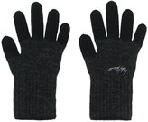 Yohji Yamamoto two-tone gloves - men - Wool - One Size