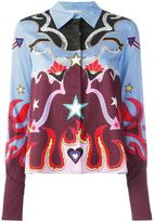 Mary Katrantzou graphic cowboy 'Shane' shirt - women - Cotton/Spandex/Elastane - 8