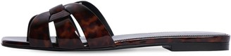 Saint Laurent 10mm Nu Pieds Patent Leather Slides