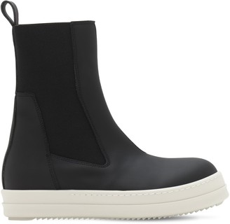 Rick Owens Faux Leather Beatle Boots