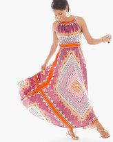 Chico's Scarf-Print Maxi Dress