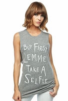 Local Celebrity Selfie Muscle Tee in Heather Grey