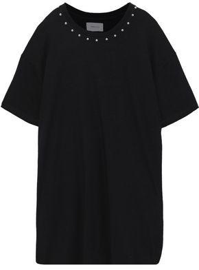 Current/Elliott Studded French Cotton-terry Mini Dress
