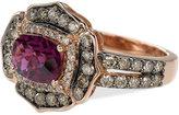 LeVian Le Vian Chocolatier Raspberry Rhodolite Garnet (1-1/2 ct. t.w.) and Diamond (9/10 ct. t.w.) Ring in 14k Rose Gold