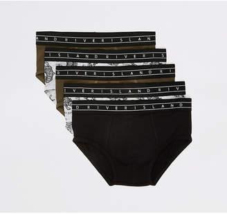 River Island Boys khaki tiger print briefs 5 pack