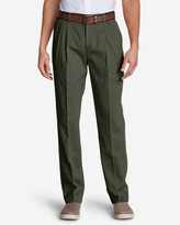 Eddie Bauer Wrinkle-Free Classic Fit Pleated Causal Performance Chino Pants