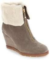 Kate Spade new york 'stasia' faux shearling wedge bootie (Women)