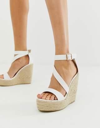 Raid RAID Zain white espadrille wedge sandals