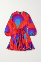 Rhode Resort Ella Pleated Printed Cotton Mini Dress