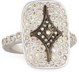 Armenta New World Rectangular Pavé Crivelli Shield Ring