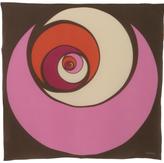 pink and brown 'Letizia' 34'' square silk scarf