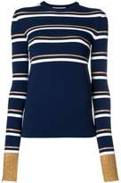 Cédric Charlier slim-fit striped pullover