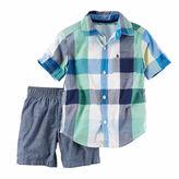 Carter's Boys 2pc Blue Pant Set