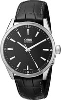 Oris Men's 73376424054-0752181FC Leather Synthetic with Dial Watch