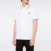 Paul Smith Men's White PS Logo Organic-Cotton Polo Shirt
