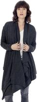 Alternative Overlap Eco-Brushed Jersey Sweater Wrap