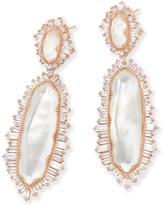 Kendra Scott Katrina Statement Earrings in Rose Gold