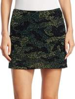 Alice + Olivia Elana Camouflage Mini Skirt