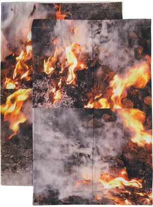 Serapis SSENSE Exclusive Fire Linen Set, Queen
