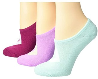 Converse Color Contrast Star Chevron 3-Pair Pack MFC (Peony/Ocean Mint/Rose Maroon) Women's Crew Cut Socks Shoes