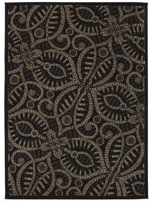 "Waverly Color Motion ""Belle of the Ball"" Licorice Area Rug Rug Size: Rectangle 5' x 7'"
