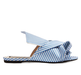 No.21 NO. 21 Stripe-print satin slides