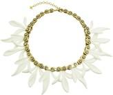 "Nicole Miller Matte Resin Chain Gear Petal 18"" Necklace"