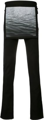Raf Simons X Robert Mapplethorpe waves overlay skinny trousers