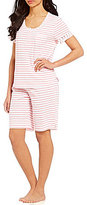 Karen Neuburger Striped Bermuda Pajamas